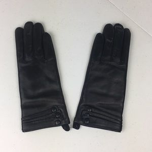 Winter Leather Gloves Touchscreen Cashmere